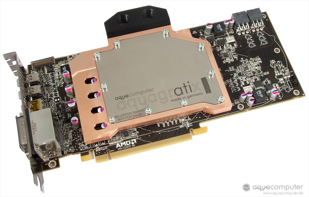 ATI RADEON HD 6970//6950 full cover water block from Aquacomputer AQUAGRATIX